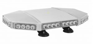 The LED strobing light bar is equipped with 40 LED bulbs around the perimeter of the structure that have a 50,000-hour life expectancy.
