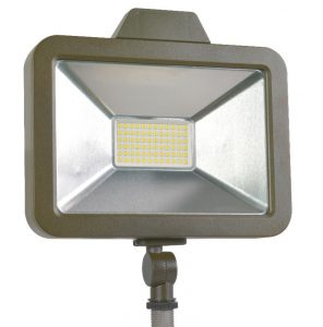 Slim Floodlights from SYLVANIA produce up to 6000 lumens.