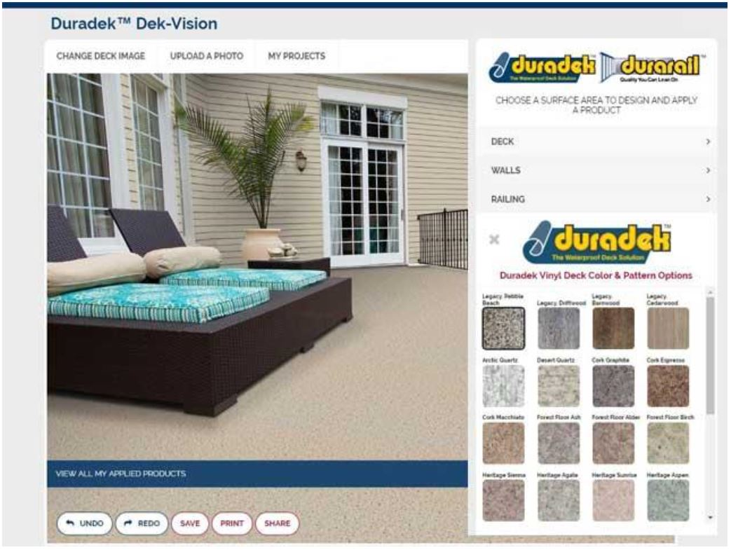 Create deck makeover plans with online design tool retrofit for Online deck designer tool